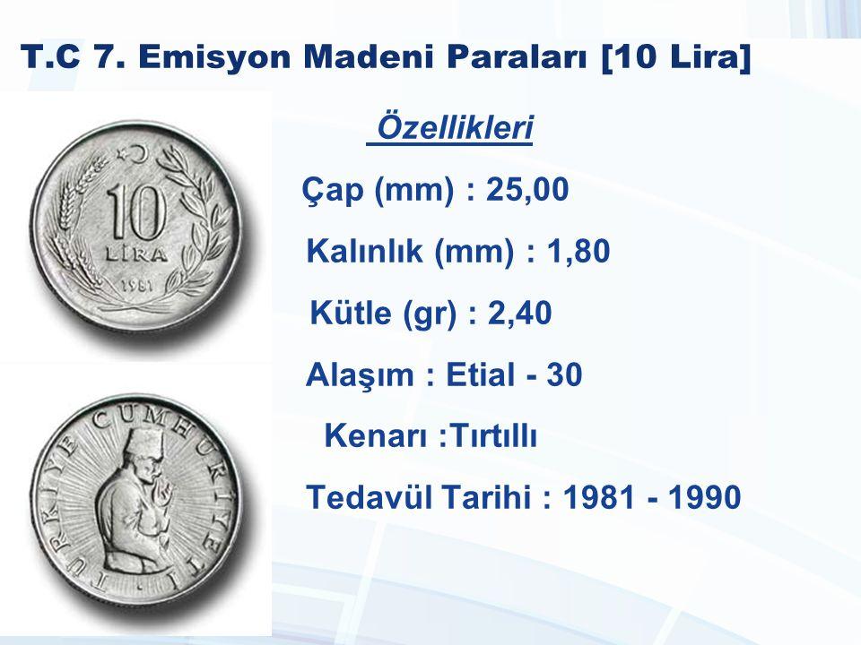 T.C 7. Emisyon Madeni Paraları [10 Lira]
